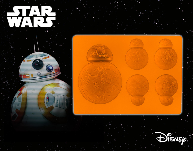 New Star Wars BB-8 Silicone Mould Tray Flat Type Star Wars Brand New