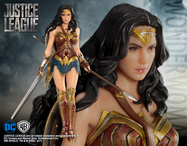 Justice League Movie Wonder Woman 1:10 Scale Statue